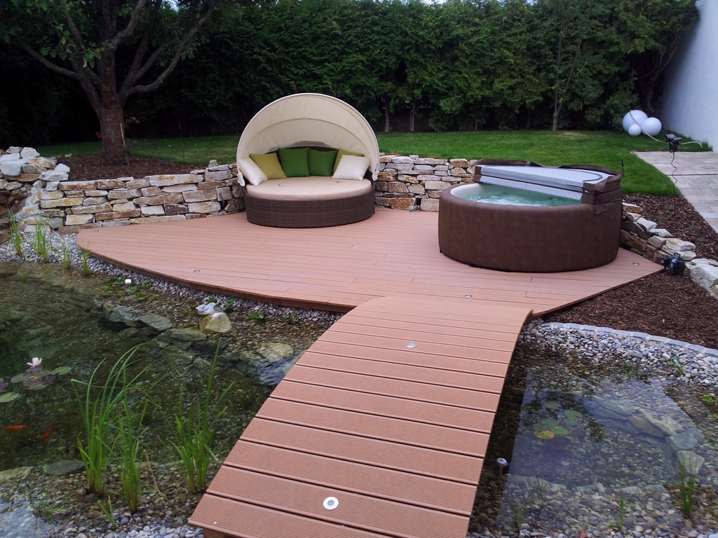 Softub hot tub landscaping