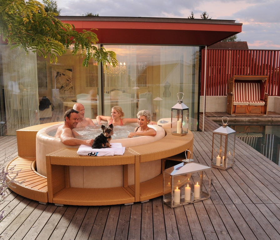 Softub hot tub for all the family