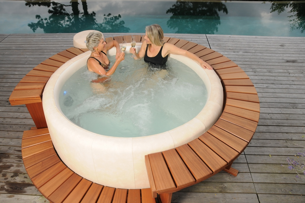 Softub hot tub for quality time