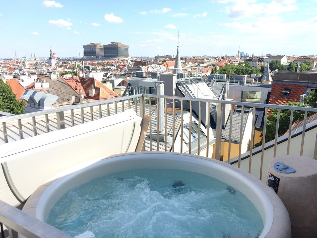 Softub hot tub balcony installation