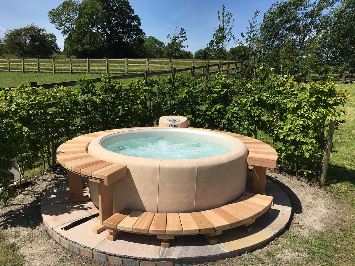 round hot tub in Yorkshire