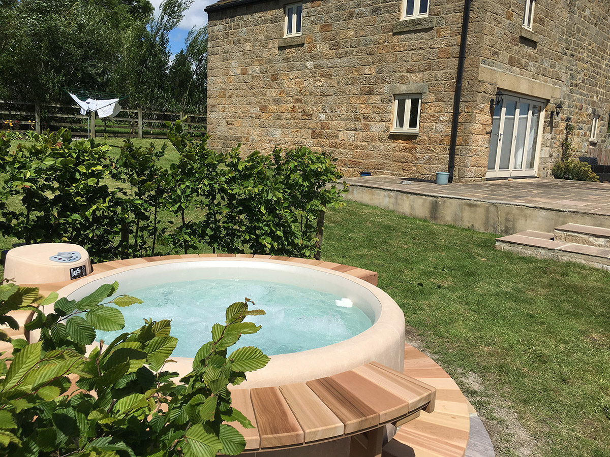 Softub hot tub and Yorkshire cottage