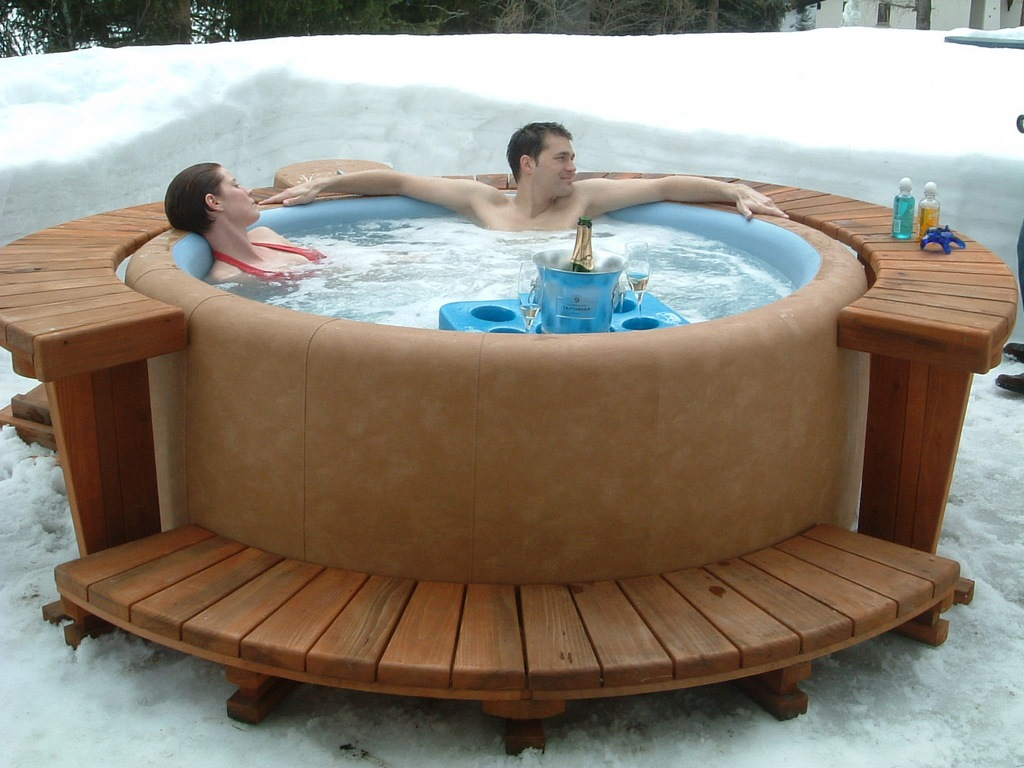 warm up in your Softub hot tub