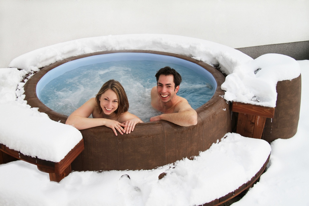 snowy Softub hot tub