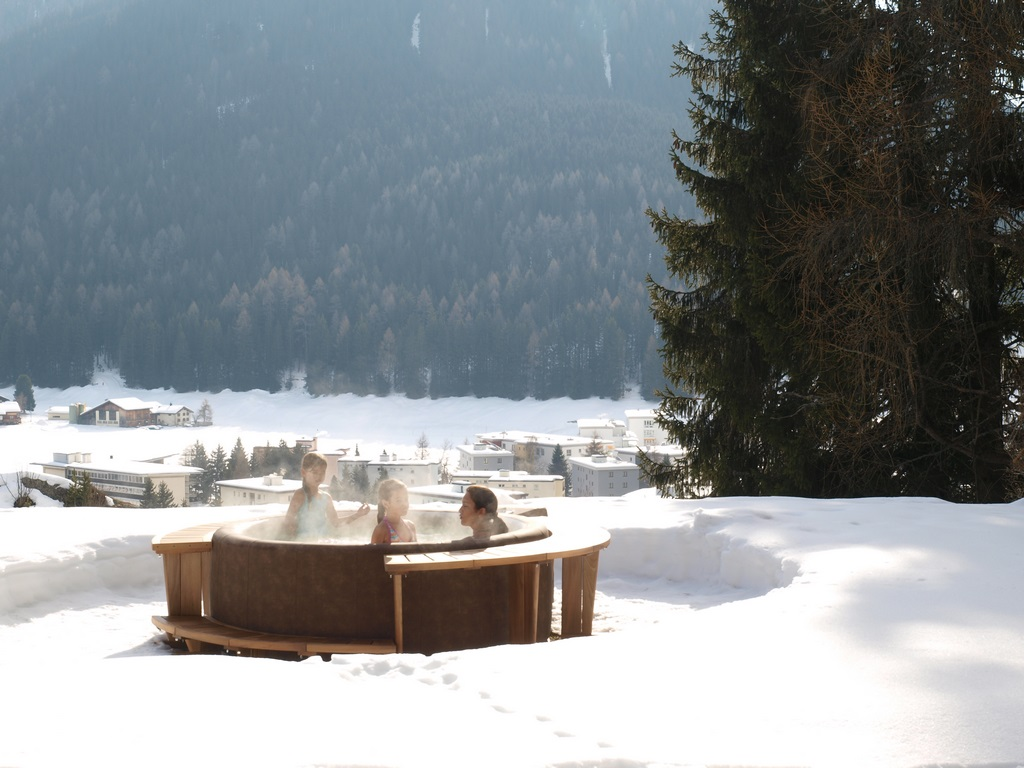 Softub hot tub in winter