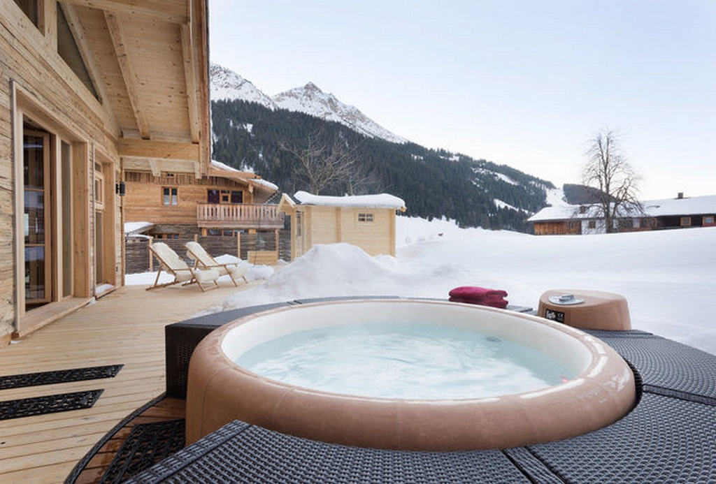 Softub hot tub at the ski chalet